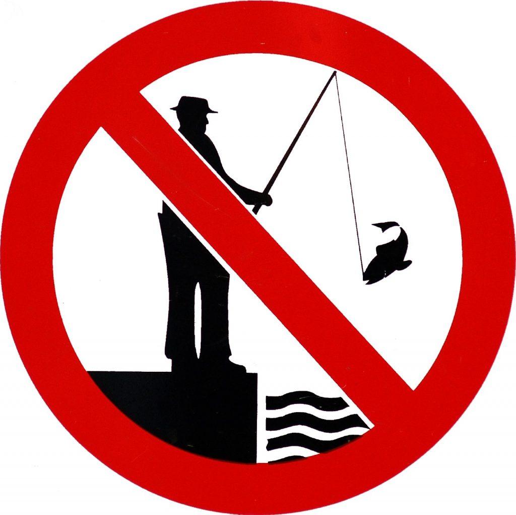 釣り禁止看板