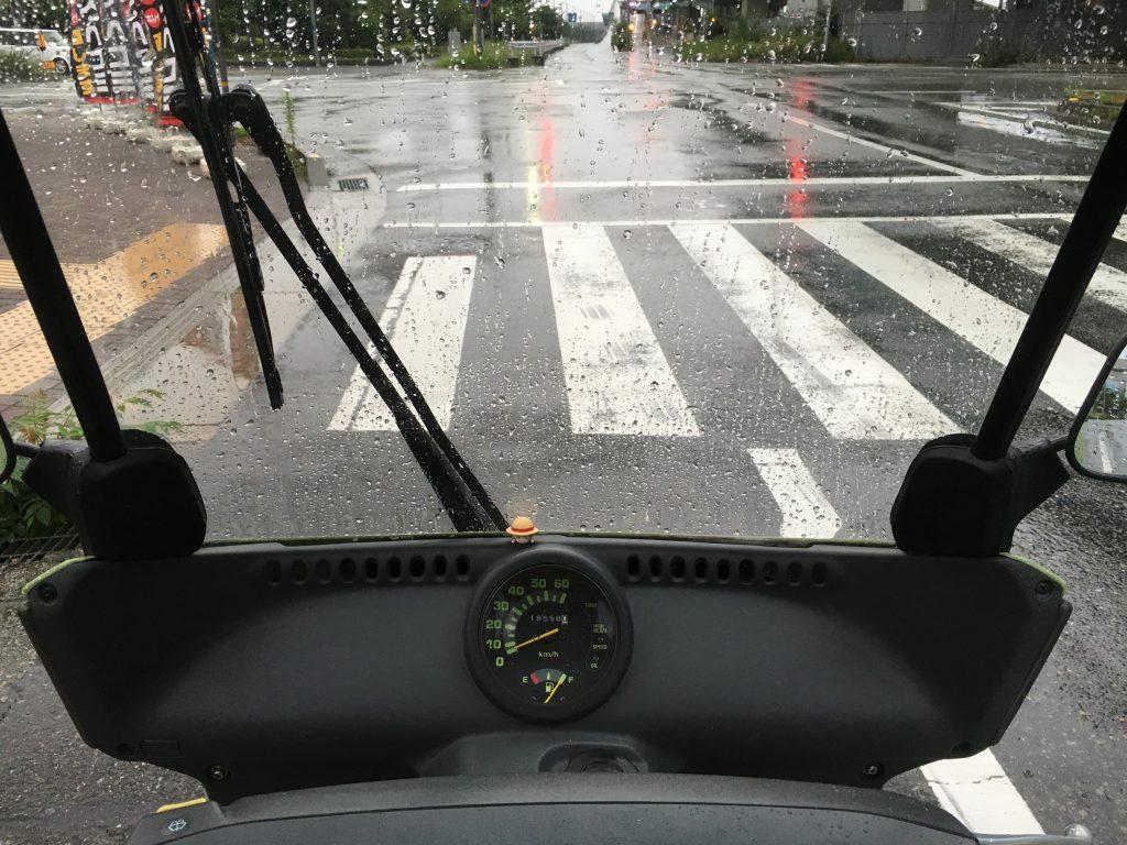 雨も平気 ジャイロキャノピー