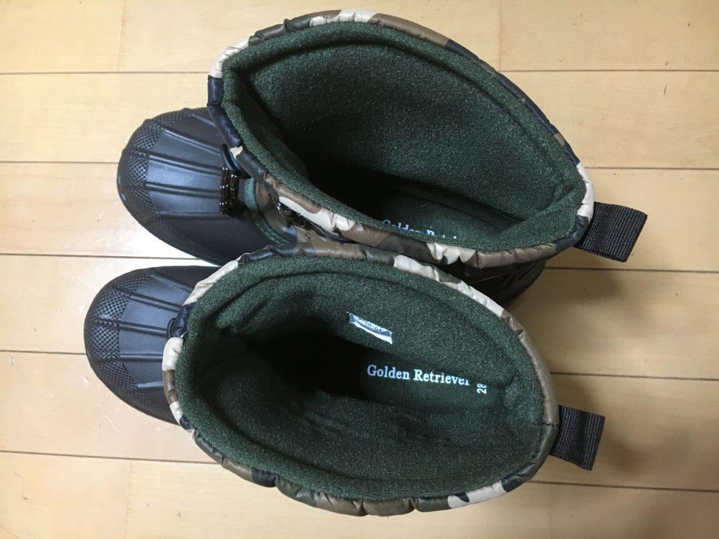 釣り用防寒ブーツ 内側フリース