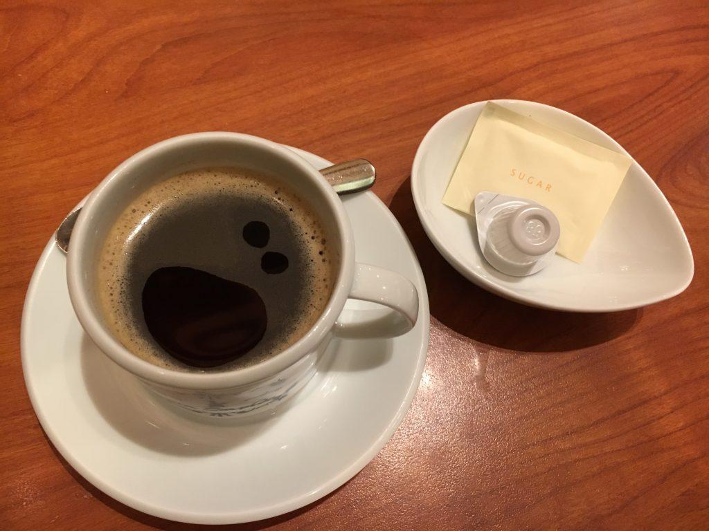 コーヒーに顔が出現!