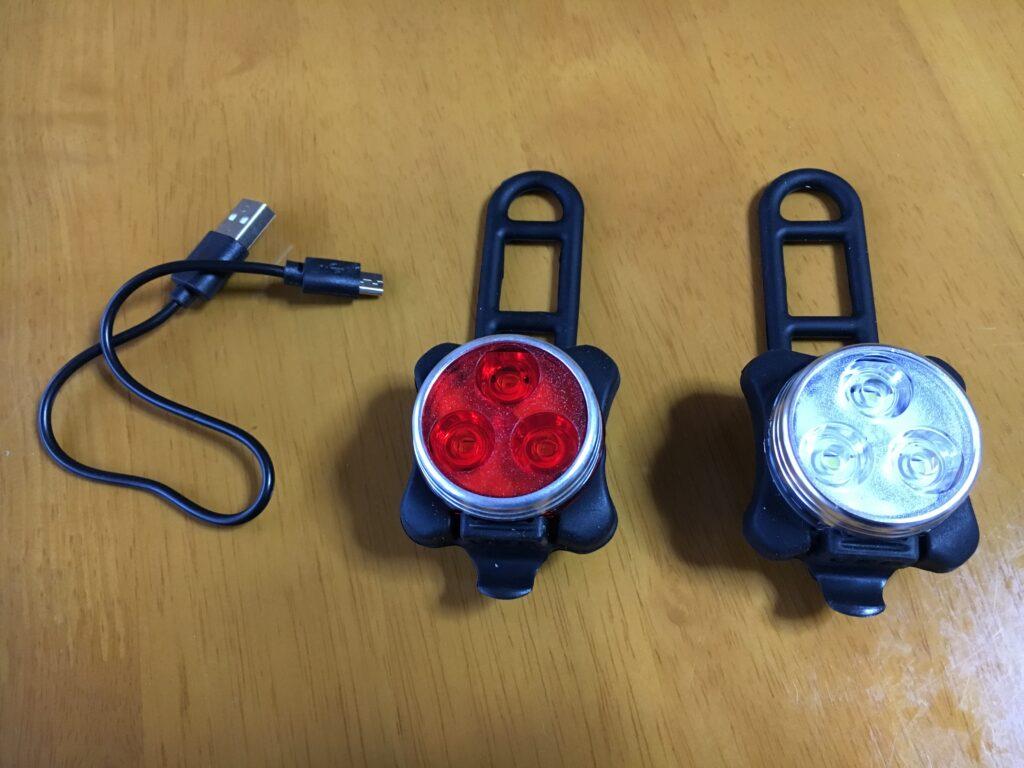 USB充電式 LED ヘッドライト テールランプ