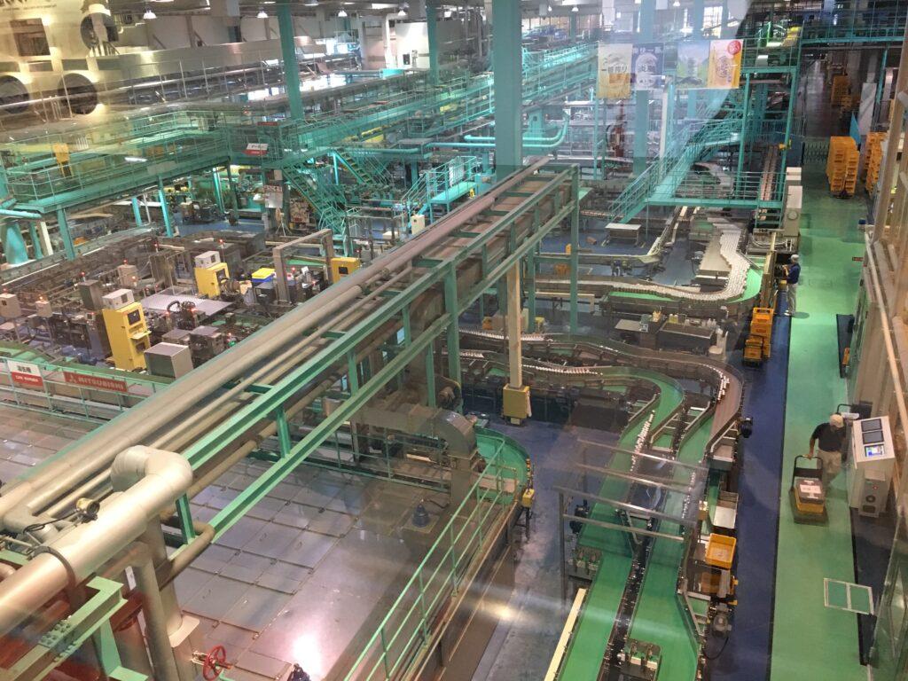 キリンビール工場見学 製造ライン