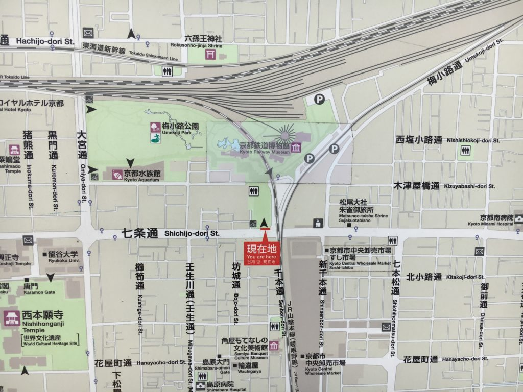 京都鉄道博物館 周辺地図