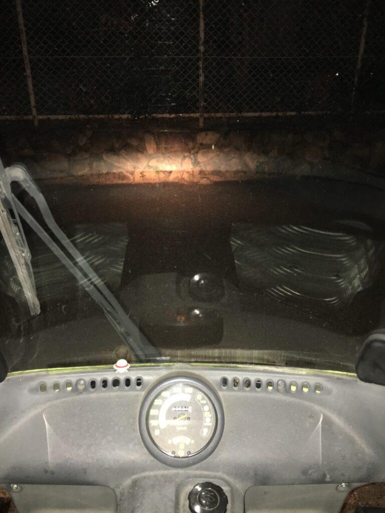 ジャイロキャノピー LEDヘッドライト交換
