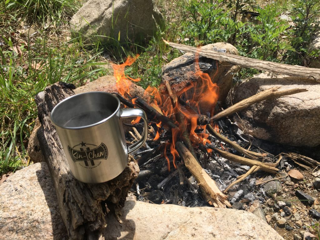 焚火とコーヒー