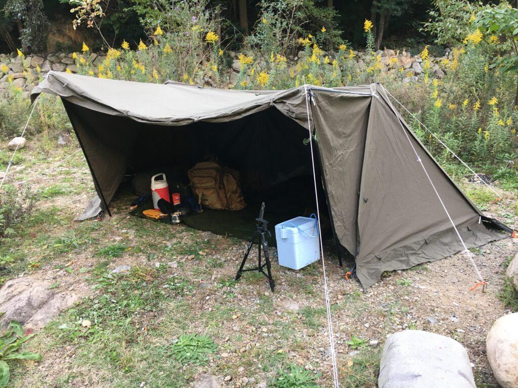 バンドック ソロベース 野営ソロキャンプ