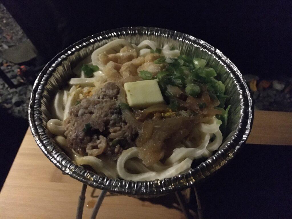 ソロキャンプ 手抜き晩飯