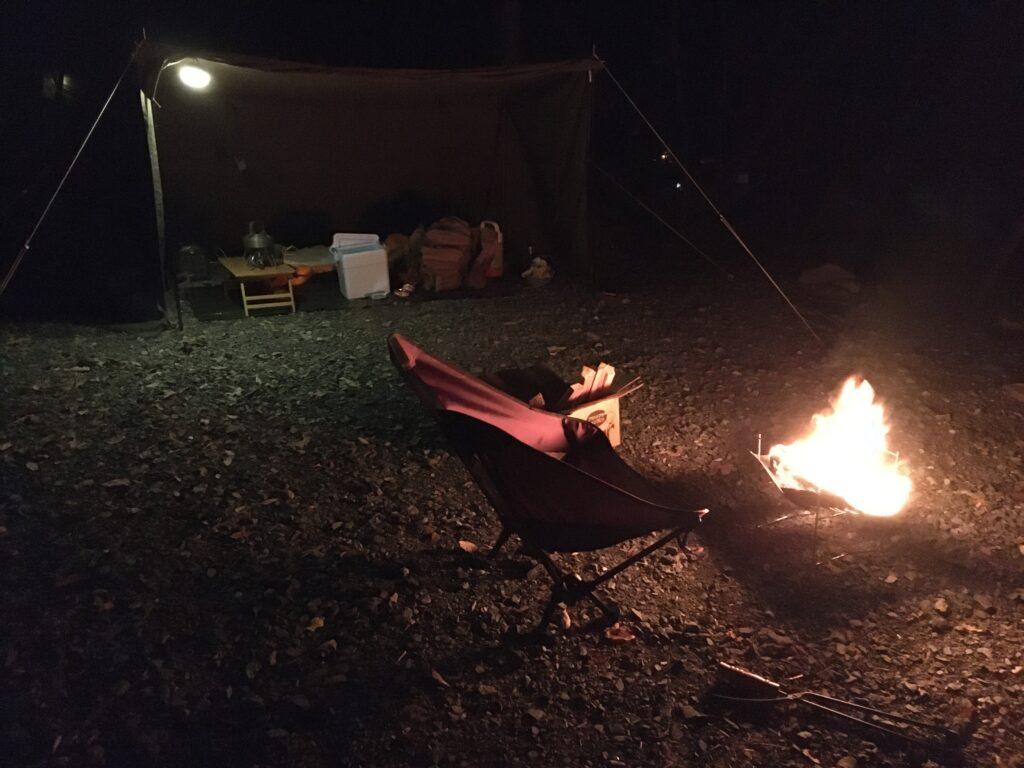 焚火とソロベース