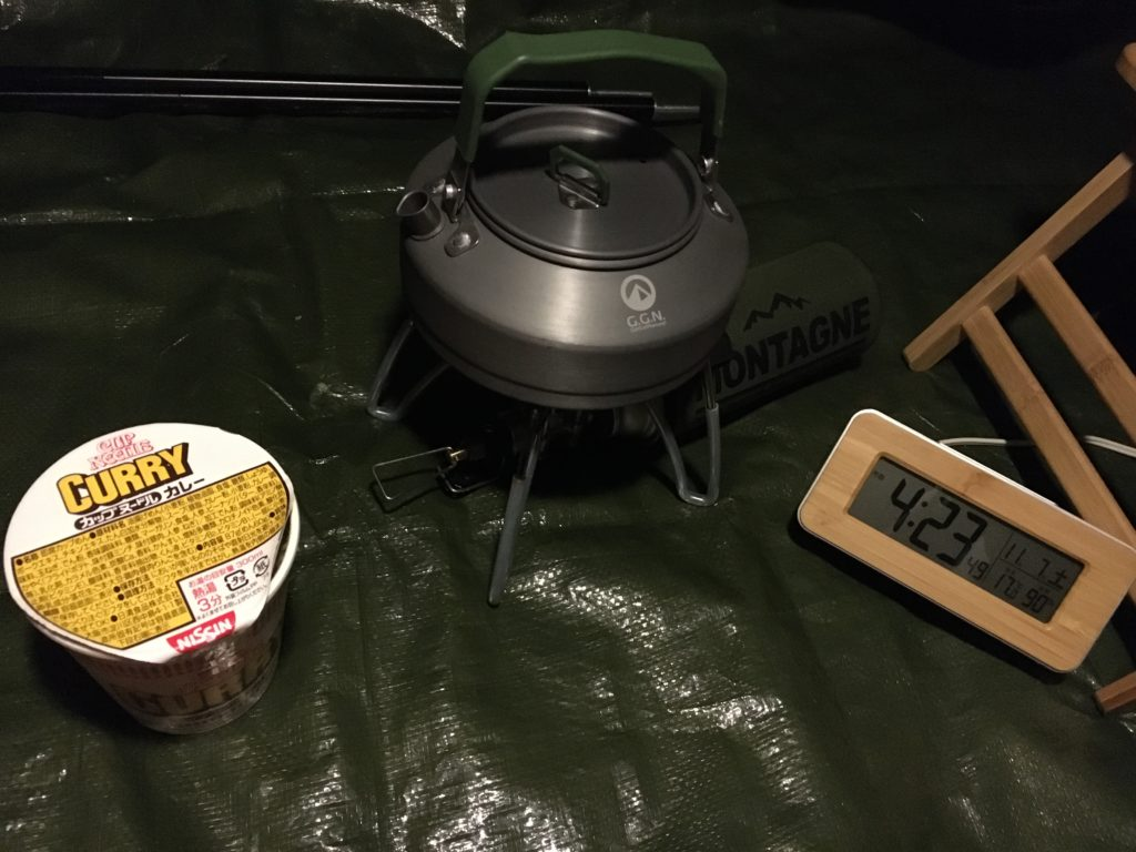 キャンプ早朝飯