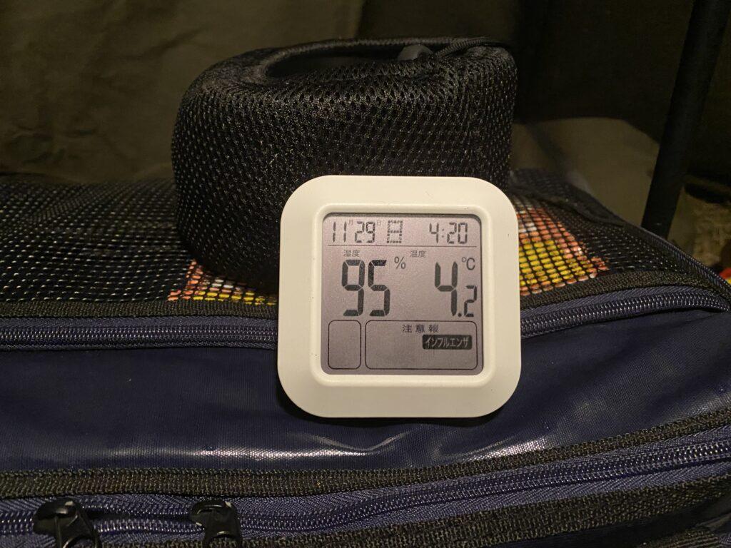 朝の気温と湿度
