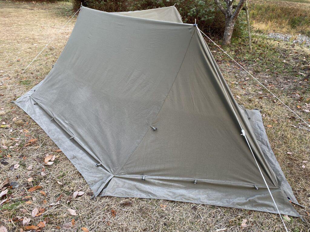 キャンプ翌朝の霜